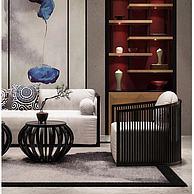 新中式沙发椅子组合3D模型3d模型