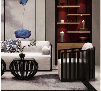 新中式沙发椅子组合