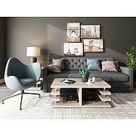 现代客厅沙发单椅组合3D模型3d模型