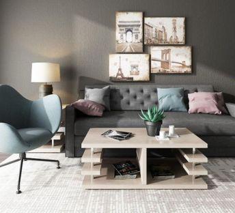 现代客厅沙发单椅组合