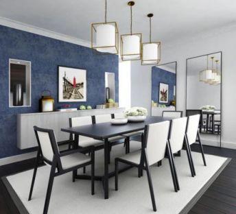 现代时尚餐桌椅吊灯组合