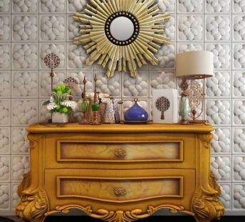 欧式玄关柜装饰镜组合