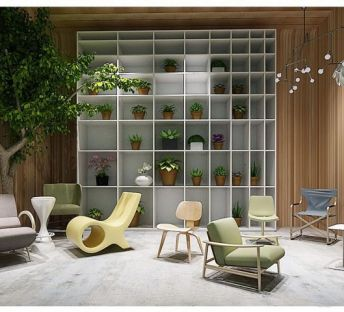 现代花架休闲椅组合