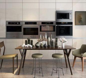 现代餐桌椅厨具组合
