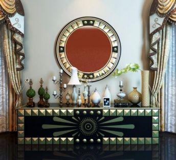 东南亚装饰柜饰品组合