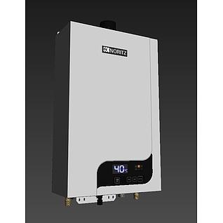 能率热水器京东专供3d模型