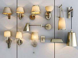 轻奢壁灯组合模型