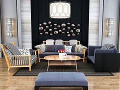 现代休闲沙发椅茶几组合模型3d模型