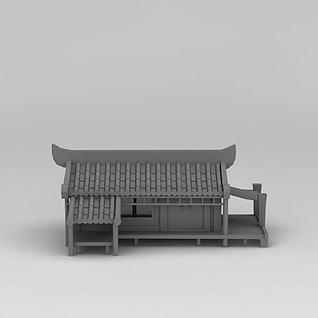 古代房子3d模型