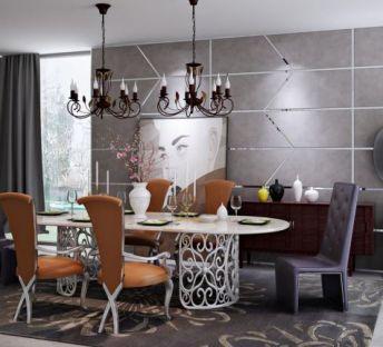 现代北欧餐桌椅