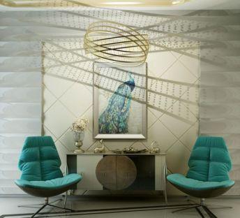 现代沙发椅边柜吊灯组合