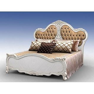欧式奢华床3d模型