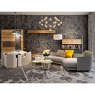 现代转角沙发茶几组合3D模型3d模型