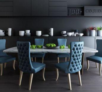美式家庭自助餐桌椅组合