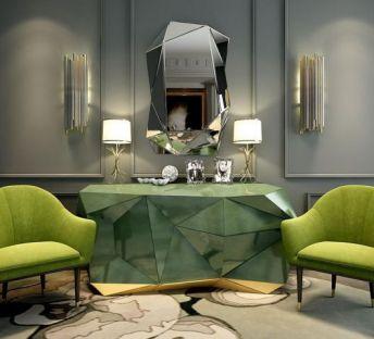超酷几何形柜子椅子组合