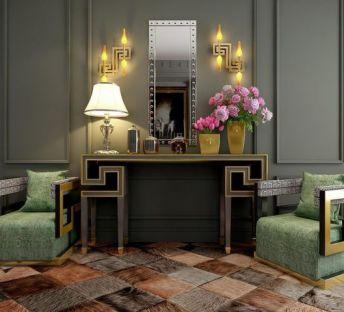 经典奢华柜子沙发椅组合