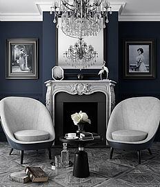 欧式壁炉休闲椅组合3d模型