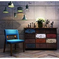 工业风装饰柜单椅组合3D模型3d模型