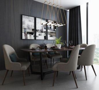 后现代餐厅桌椅
