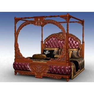 美式豪华四柱床床3d模型3d模型
