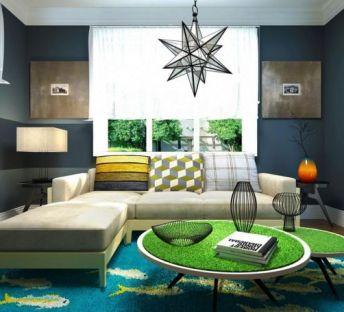 现代沙发创意草坪茶几