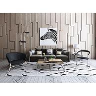 现代沙发镂空茶几组合3D模型3d模型