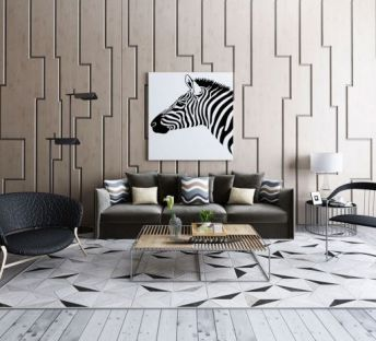 现代沙发镂空茶几组合