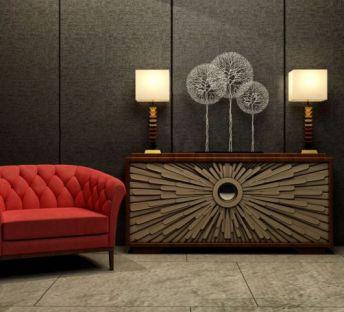 现代沙发椅边柜组合