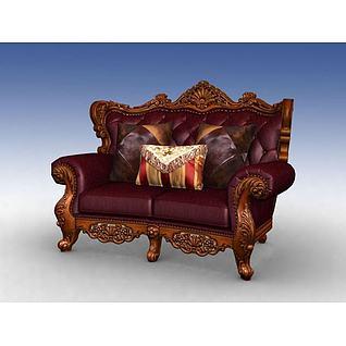 双人沙发3d模型3d模型