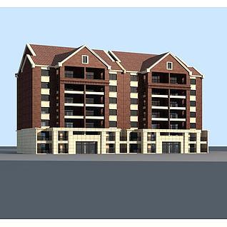 欧式住宅楼3d模型