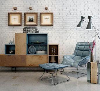 现代沙发躺椅书柜组合