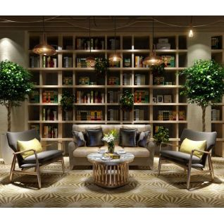 现代书架创意沙发茶几组合3d模型