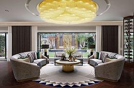 现代环形沙发吊灯组合3d模型