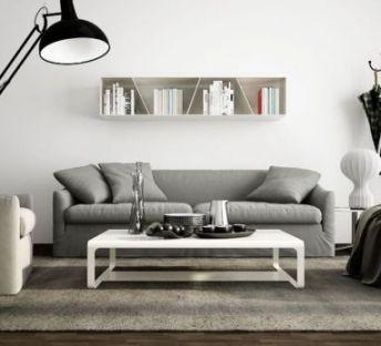 现代沙发茶几衣架组合