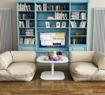 北欧休闲沙发书柜组合