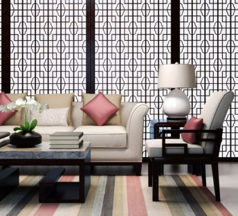 中式客厅沙发椅子组合