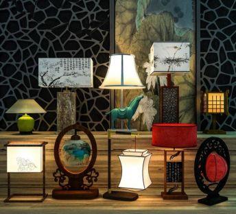 中式台灯装饰灯