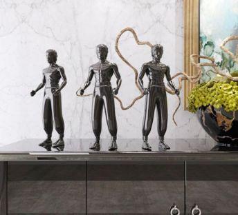 李小龙人物雕塑摆件