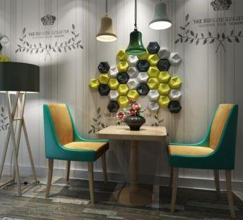 浪漫咖啡厅桌椅