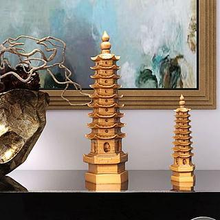 玲珑宝塔艺术摆件组合3d模型