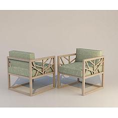 新中式椅子3D模型3d模型