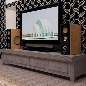 客厅音响电视墙模型3d模型