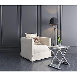 休闲单人沙发树枝吊灯3d模型