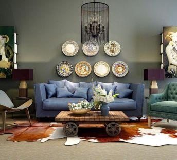 新装饰主义沙发茶几组合