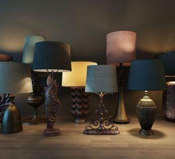 美式古典台灯