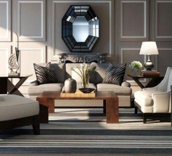 美式沙发椅子组合