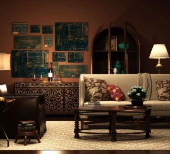 美式沙发装饰柜组合