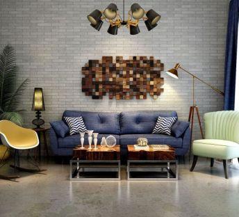 北欧简约沙发墙饰品组合