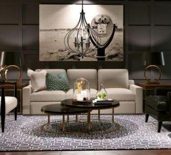 英式沙发椅蜡烛吊灯组合