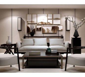 低奢中式客厅沙发椅子组合
